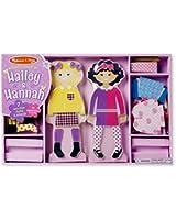 Melissa & Doug Hailey & Hannah Magnetic Dress-Up Dolls