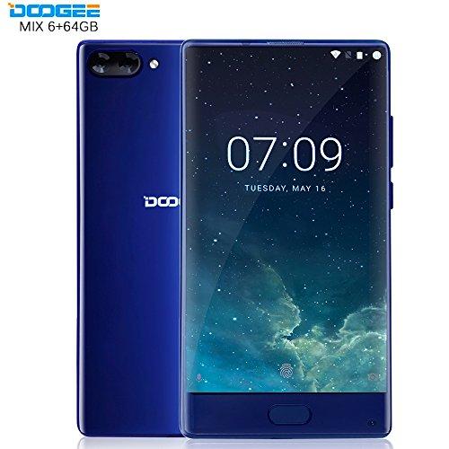 Doogee MIX 5.5 Zoll 6GB RAM 64GB ROM Android 7.0 Smartphone Helio P25 Octa-Kern 2,5 GHz Metallgeh?use Berührungssensor Front- und Doppel Rückkameras