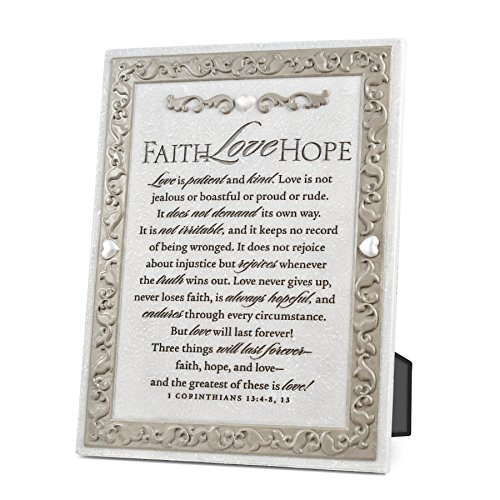 Lighthouse Christian Products Faith Plaque