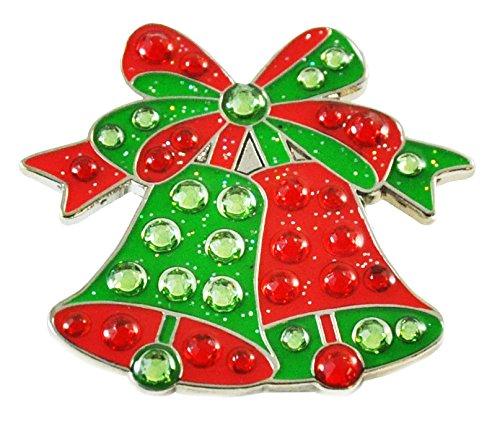 Navika Christmas Jingle Bells Swarovski Crystal Ball Marker with Magnetic Hat - Holiday Crystal