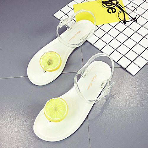 9437009826 durable service Sinfu Women Fruit Flip flops Lemon Pattern Sandals ...