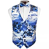 Dolphin Tuxedo Vest and Bow Tie Size XXLarge