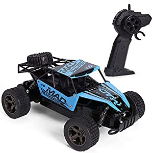 GPTOYS RC Cars Off-Road Remote Control Truck 1/18 Scale2.4GHz, Color Blue