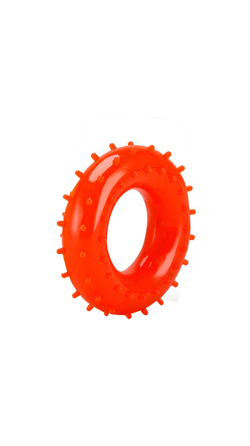 XinHeChengMai Environmental Protection PVC Grip Ring Middle-Aged Finger Rehabilitation Equipment Rubber Ring O-Type Grip Office Fitness Exercise(Orange,60mm)