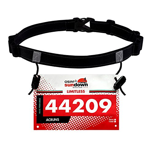 Maacool Running Number Belt for Running, Cycling ,Marathon,Triathlon Race,with 6 Gel Loops to attach energy - Belt Running Race