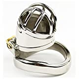 YiFeng Stainless Steel Male Chastity Cage Device Belt Restraint Men Bondage Fetish ZCS144 (45mm Ring)