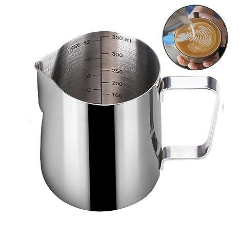 Amazon.com: HouseHoo Milk Frothing Pitcher, 12 Oz (350 ml ...