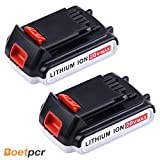 battery black and decker 20v - Boetpcr LBXR20 2.0A Replace for Black and Decker 20V Battery Lithium-ion Max LB20 LBX20 LST220 LBXR2020-OPE LBXR20B-2 LB2X4020 Cordless Tool Batteries 2 Pack