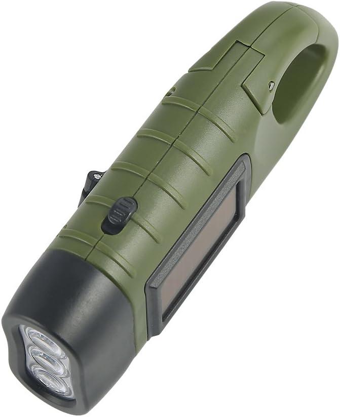 Portable LED Flashlight Hand Crank Sol Simpeak Emergency Flashlight Hand Crank