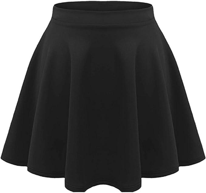 Get Fashion UK - Falda - para niña Negro Negro (11-12 Años: Amazon ...