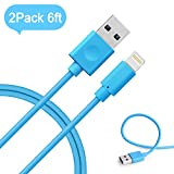 iPhone charger, MarchPower 2 Pack 6ft Lightning to USB Cable, iPhone Cord for iPhone SE 6s Plus 6 5s 5c 5 iPad Air mini 4th Gen iPod nano touch (Blue)