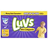Luvs Ultra Leakguards Disposable Diapers Size 5, 88 Count, SUPER