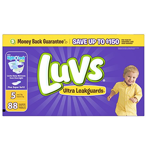 Luvs Leakguards Super Absorbent Diapers, Super Pack