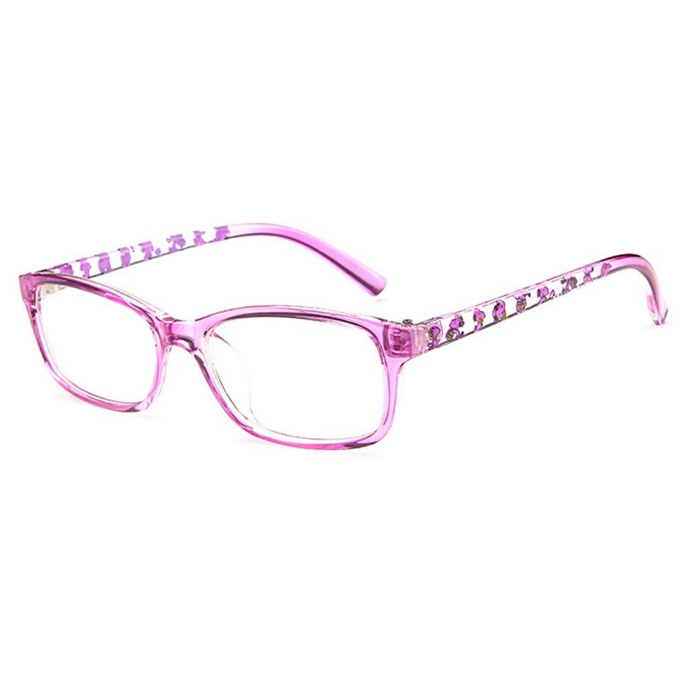 Fantia Unisex Child Non-Prescription Glasses Frame Clear Lens Kids Eyeglasses (3#-Purple)