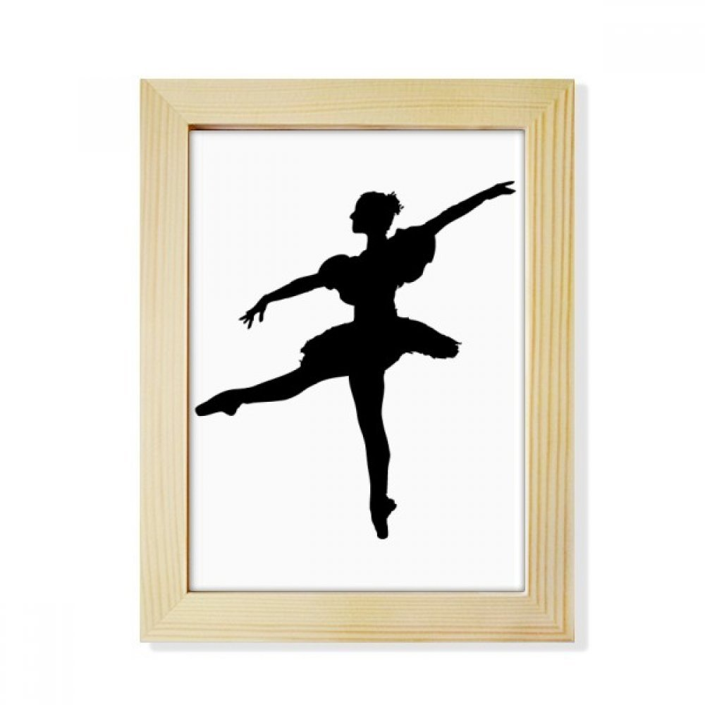 Dance Dancer Ballet Art Sports Desktop Wooden Photo Frame Picture Art Painting 6x8 inch