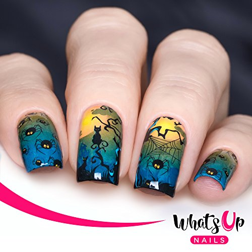 Whats Up Nails - P039 Spider Invaders Water Decals Sliders for Halloween Nail Art Design -
