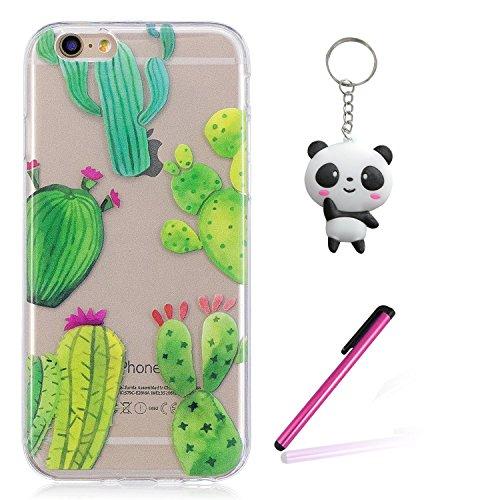 iPhone 8 Hülle,Hübscher Kaktus Premium Handy Tasche Schutz Transparent Schale Für Apple iPhone 8 + Zwei Geschenk