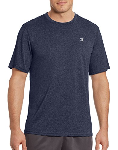 Champion Men's Double Dry Tee, Navy Heather, Small