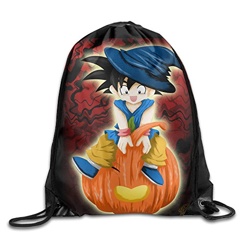 Goku Costume Ideas (Drawstring Backpack Dragon Ball Z Goku Halloween Holiday Gift Idea Nylon Home Travel Sport Storage)