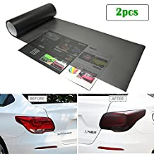 Car Light Tint Film Frosted Taillight Tail Back Turn Signal Black Headlight Fog Light Tinted Vinyl Color Sticker Self Adhesive Shiny Chameleon Accessories Parts 48''x12'' 2pcs【1797】