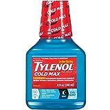 TYLENOL Cold Max Nighttime Cool Burst Liquid 8 oz (Pack of 4)