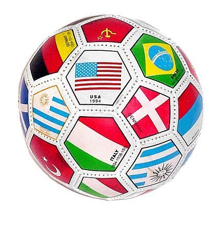 Full Sized World International Soccer Ball, mixed