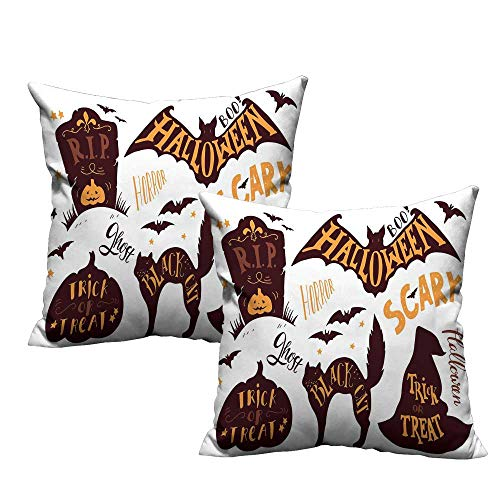 Acelik Vintage Halloween Square Throw Pillow Covers Halloween