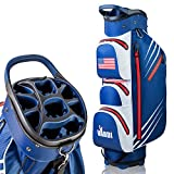 VARDI Golf Cart Bag: Red, White, and Blue Carry Holder for Golf Clubs