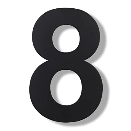 Mellewell House Number Floating Inch Stainless Steel Black - 10 inch metal house numbers