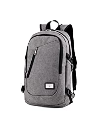Business Laptop Backpack by NOT HOME, 15.6 Inch College Backpacks with USB Charging Port, Anti-theft Lightweight Travel Bag for Men & Women(Lock Included)