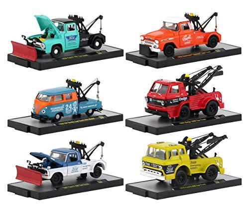 (New DIECAST Toys CAR M2 MACHINES 1:64 AUTO-Trucks Release 52 Assortment in Plastic Display Cases Set of 6 32500-52)