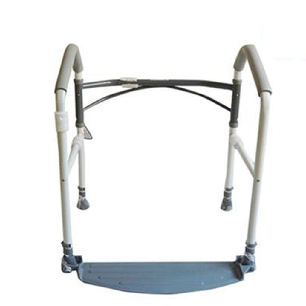 C&L バッキンガムポータブル折りたたみトイレの安全フレームフットスツールとパッド付きサポートアームバーは、立つと助けます。トイレの周囲に調節可能な高さ - 大部分のトイレに適しています (サイズ さいず : 41*56*(70*90) cm) B07D9CYSW1   41*56*(70*90)cm