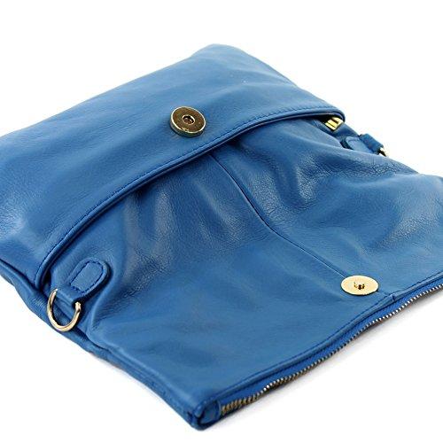 bag small T54 Italian bag Wild bag nappa croco Signal bag shoulder leather leather shoulder leather Blue underarm Clutch 5qqAz