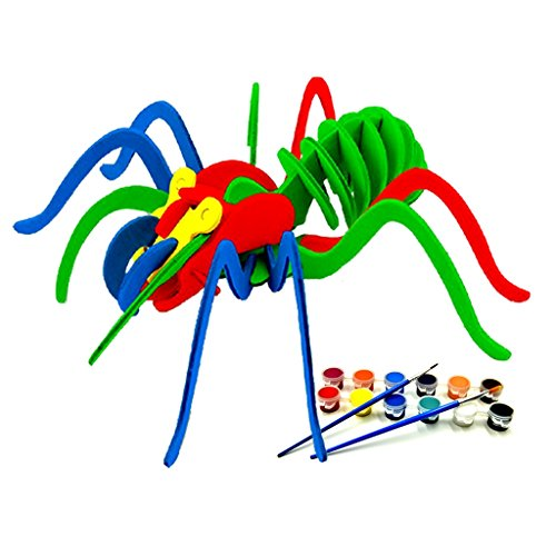 Christmas'gift,SPIDER 3D Jigsaw Puzzle for Kids, Adult Puzzles, DIY Model Kids Paint Toy, Childrens Gift, Brain Teaser, Wooden Puzzle.