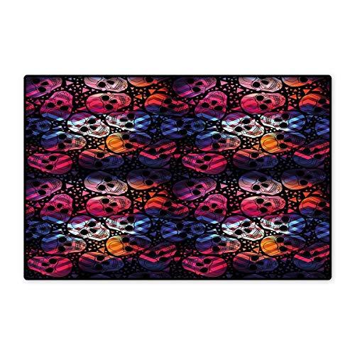 Halloween Bath Mats Carpet Mexican Sugar Skulls Stylized Digital Polygonal Geometric All Saint Day Display Customize Door mats for Home Mat 24