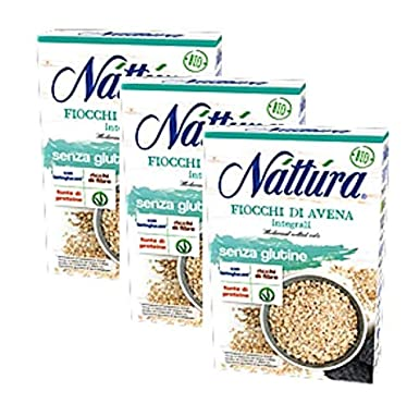 Nattura Copos de Granos Enteros Sin Gluten Rico en Fibra Con ...