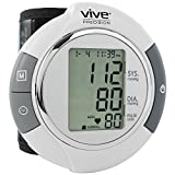 Wrist Blood Pressure Monitor by Vive Precision - Automatic Digital BP Tester Machine - Portable, Accurate, Electronic, Home Meter Device - Auto Heart Reader for Pulse Rate - 1 Size Fits Most