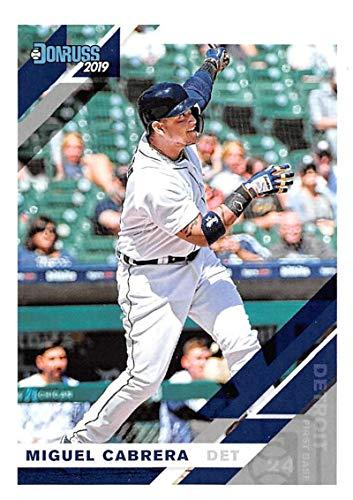 2019 Donruss #100 Miguel Cabrera Detroit Tigers Baseball -