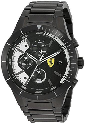 Ferrari Men's 0830267 REDREV EVO Analog Display Japanese Quartz Black Watch