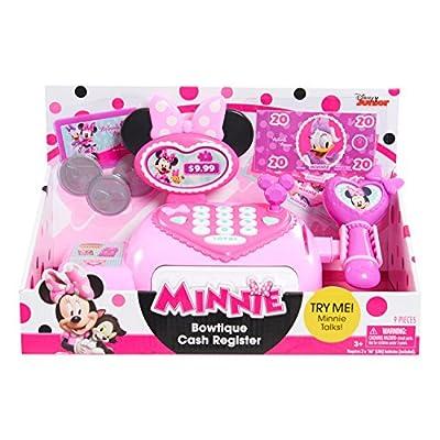 Minnie Mouse Happy Helpers Bowtique Cash Register, Multi-Color (89596): Toys & Games