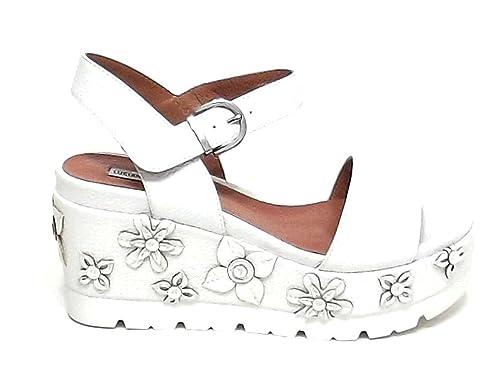 Barachini Scarpa Donna, AA508A, Sandalo Pelle Laminata Canna di Fucile Nr 38 E8102