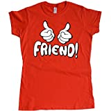 Stooble Womens's Thumbs up Friend T-Shirt