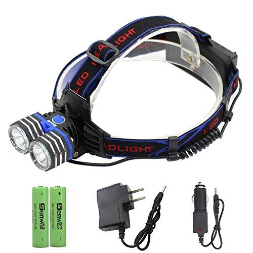 Rechargeable LED Headlamp - Genwiss Head Lamp 2000 Lumen XM-