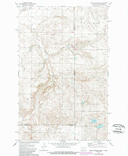 Brush Mountain MT topo map, 1:24000 scale, 7.5 X 7.5 Minute, Historical, 1974, updated 1989, 26.9 x 22.1 IN - Paper