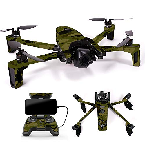 MightySkins Skin for Parrot Anafi Drone – Green Camouflage | Protective, Durable, and Unique Vinyl Decal wrap Cover | Easy to Apply, Remove, and Change Styles | Made in The USA