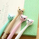 OWILL Cat Mode Gel Ink Rollerball Pens - Creative Stationery - for Writing And Decorating(6 PCS)