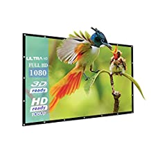 """84 Inch Outdoor PVC Projector Screen, Joyhero 84"""" 16:9 4K HD Basic Projector Screen for Wall Outdoor/Indoor Home movie ,Portable and Collapsible Projection Screen.(84"""")"""