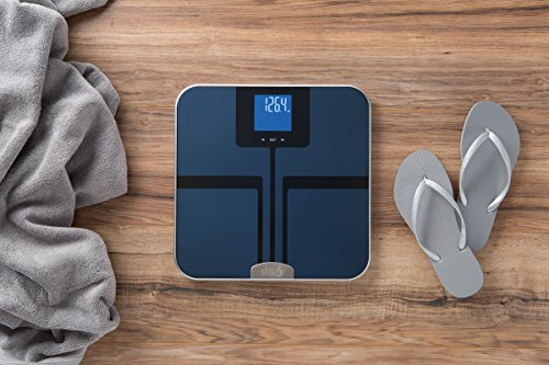 EatSmart Precision GetFit Digital Body Fat Scale w/400 lb. Capacity & Auto Recognition Technology