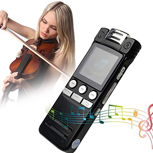 Digital voice recorder, 8 GB USB Professional dictation recorder Voice recorder with MP3 player, voice-activated recorder with rechargeable, stereo HD recording Voice recorder for pre-recorded sound