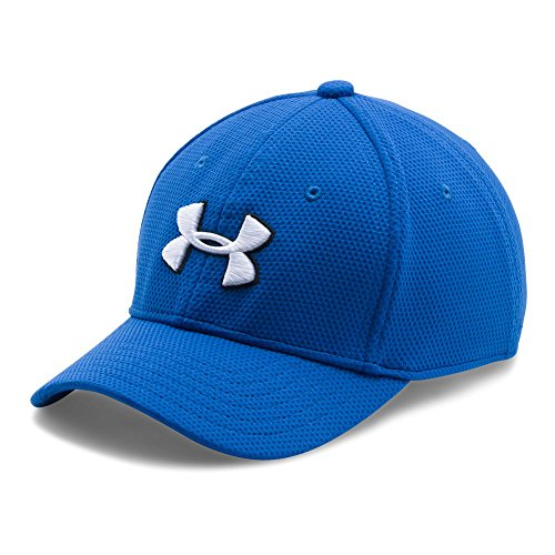 Under Armour Boys' Blitzing II Stretch Fit Cap, Ultra Blue /White, Youth Small/Medium -  1254660-907